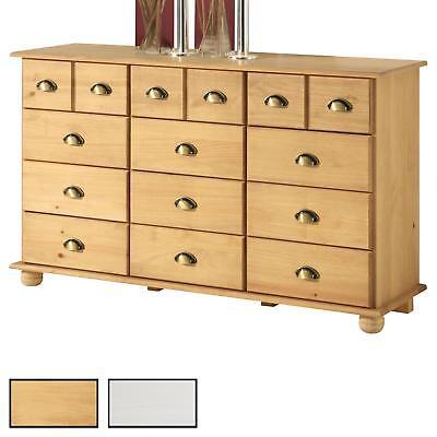 Apothekerkommode Kommode Apothekerschrank Sideboard mit 12 Schubladen in 2 Farbe