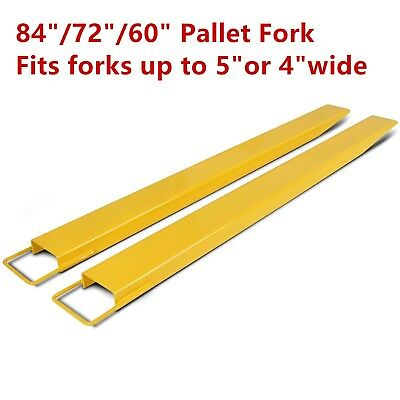 607284 Steel Pallet Fork Extensions For Forklifts Lift Truck Slide On Clamp