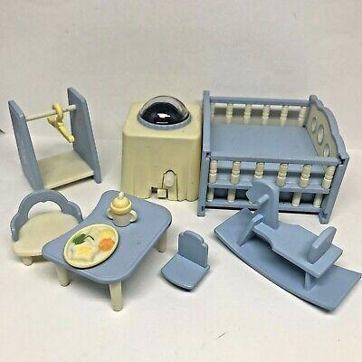 Calico Critters Sylvanian Families Nightlight Nursery Blue Baby Room Furniture