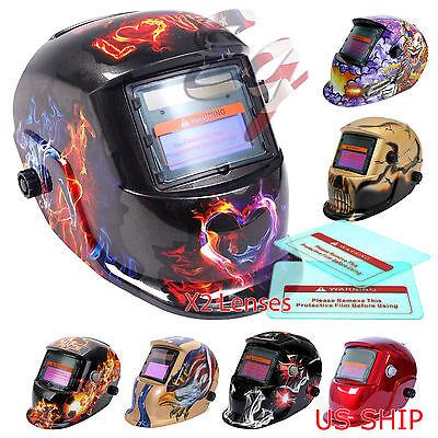 Pro Solar Auto Darkening Welding Helmet Arc Tig Mig Mask Grinding Welder Mask C