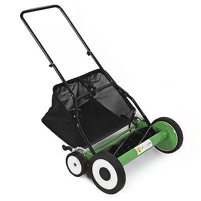 "Lawn Mower 20"" Classic Hand Push Reel W/ Grass Catcher 6 Adjustable Height 20"""