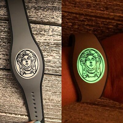 1 Disney Magic Band Decal Sticker Haunted Mansion Madame Leota Glow in THE - Glow Bands