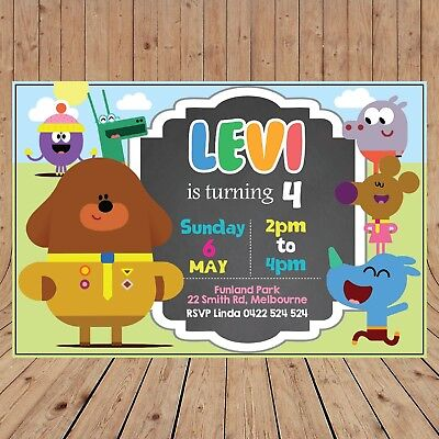 Personalised HEY DUGGEE Kids Party Invitations Invites DIGITAL - YOU PRINT - - Kids Invitations