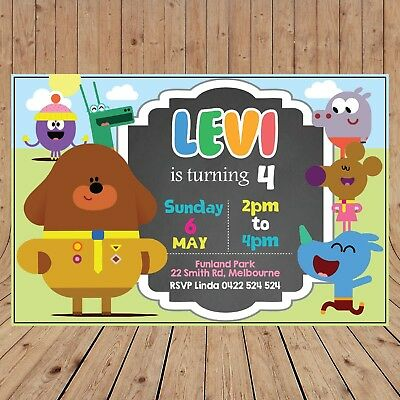 Personalised HEY DUGGEE Kids Party Invitations Invites DIGITAL - YOU PRINT -](Kids Invitations)