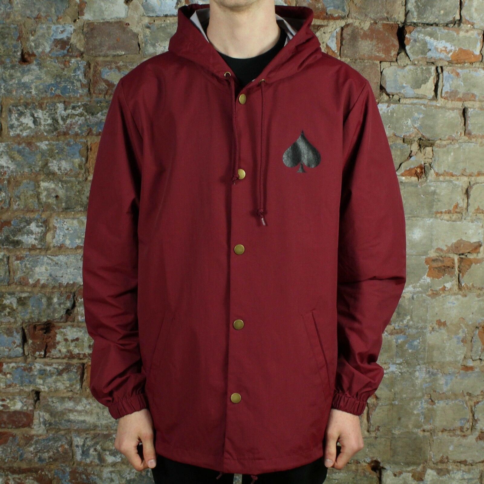e228b8658ef5 Details about Thrasher New Oath Coach Jacket Coat – Cardinal Brand New in  size S,M,L