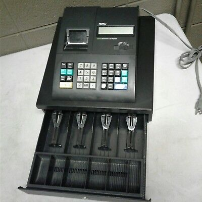 Cash Register Royal 210 Dx Black Modern Light Weight With Key C23