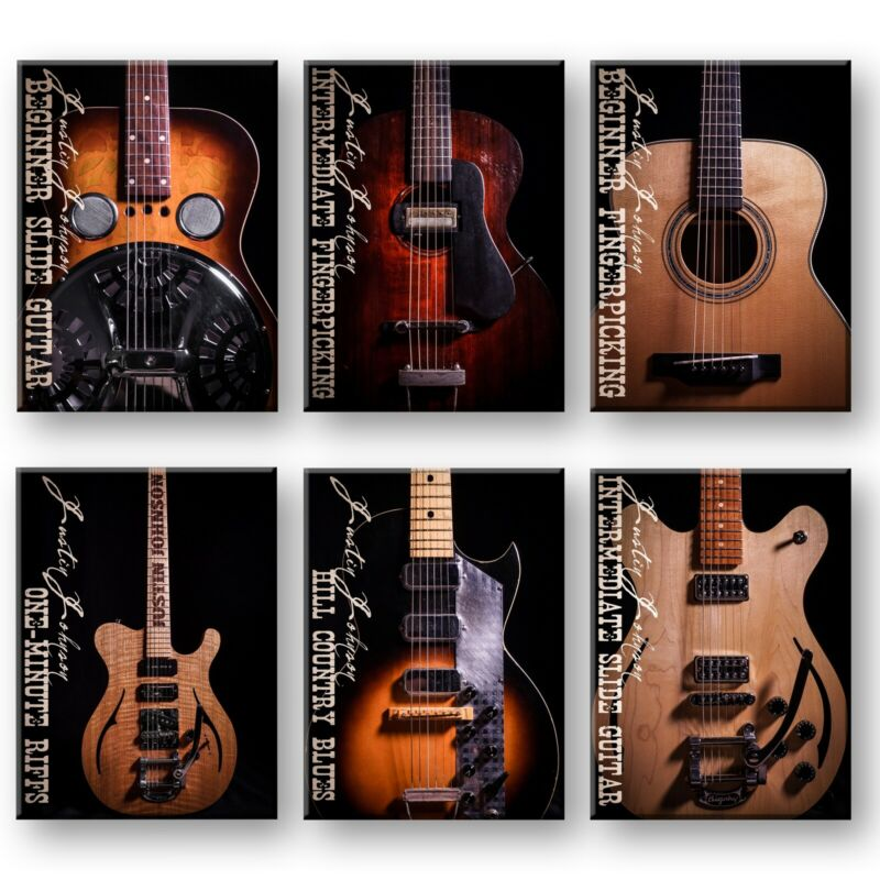 DVD BUNDLE: 6-String Guitar Lesson Bundle - 6 In-Depth Courses by Justin Johnson