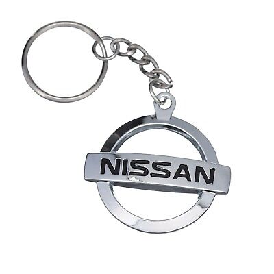 Nissan Logo Metal Key Chain Ring OEM NEW KC-171
