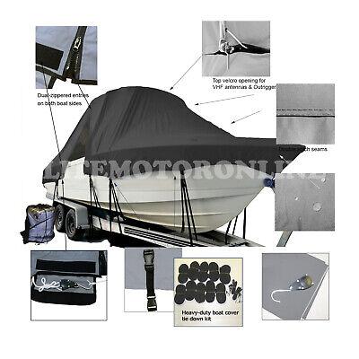 Campion Explorer 622i SD Cuddy Fishing T-Top Hard-Top Storage Boat Cover Black