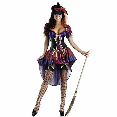 Adult Women's Witch Costume Wicked Sexy Dress Hat Body Shaper Halloween S-L - Body Painted Halloween Costumes