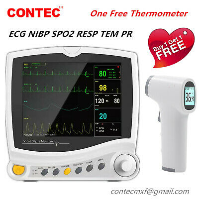 Cms6800 Icu Patient Monitor Vital Signs Monitor 6 Parameters Cardiac Monitor