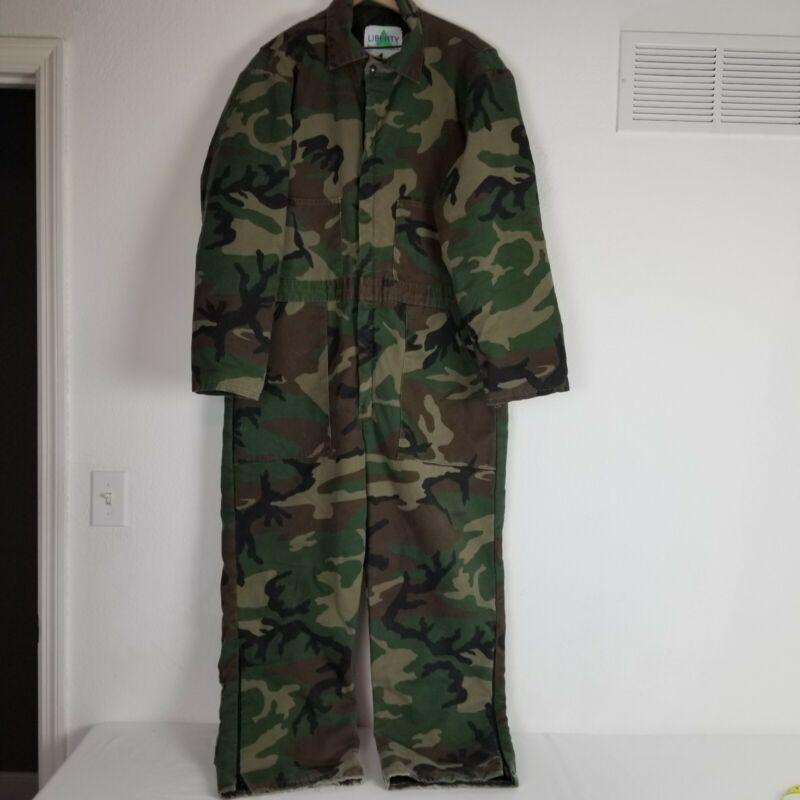 Vtg.Liberty Rugged Outdoor Gear Camouflage Coveralls Insulated  Mens Size XL
