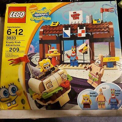 LEGO SpongeBob Krusty Krab Adventures Set 3833 NIB