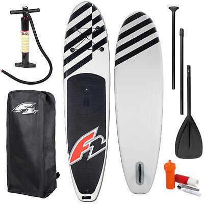 "F2 Tabla Surf de Remo Sup 10,6"" Windsurfoption Black Completo Hinchable"