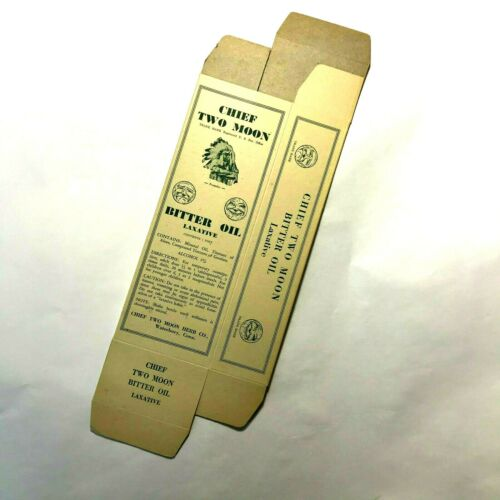 Chief Two Moon Bitter Oil Laxative 1939, New, old stock, Unused box,