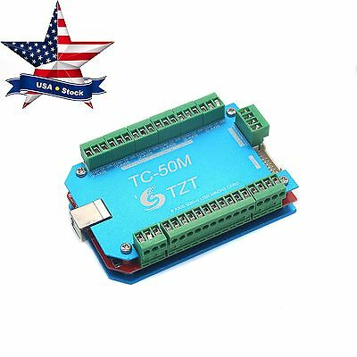 50khz Cnc Usb Mach3 Breakout Interface Board Driver 6 Axis Card Controller In Us