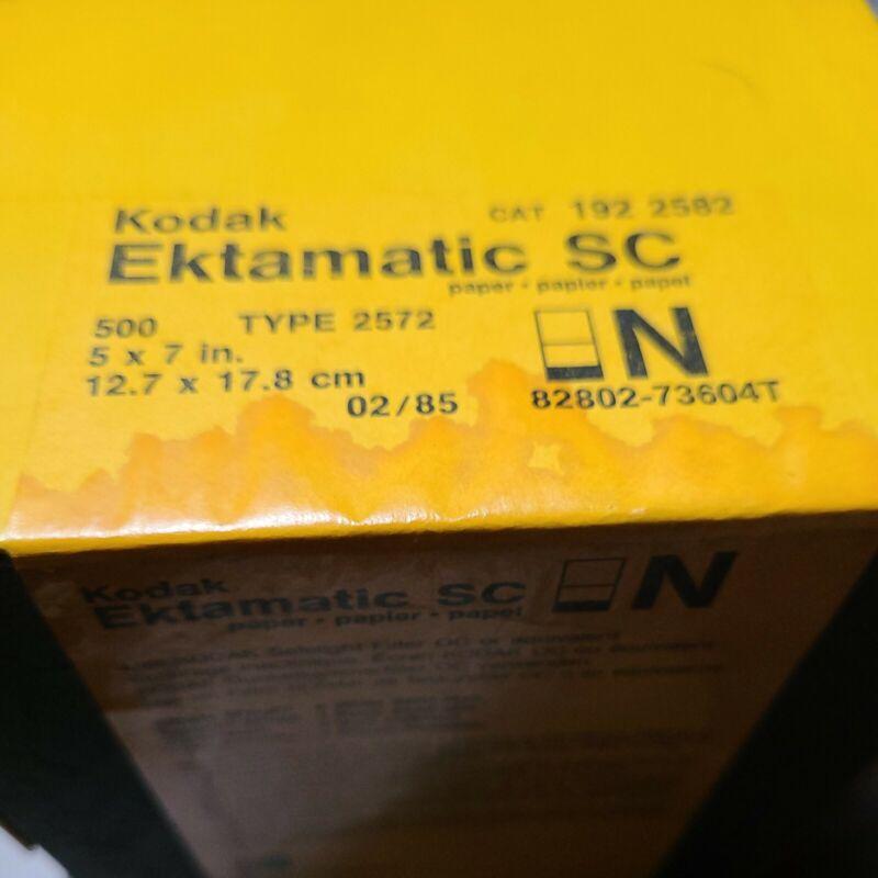 "Kodak Ektamatic SC N 500 Sheets 5""x7""  B&W Photograph Paper  Exp. 85"