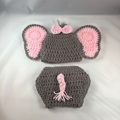Baby Girl Elephant Outfit Pink Photo Outfit Elephant Costume Newborn Prop](Newborn Elephant Costume)
