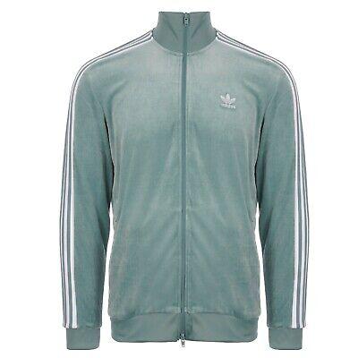 BNWT Adidas Originals Cozy Velour Track Top Jacket Vapour Steel Green DV1625 XS
