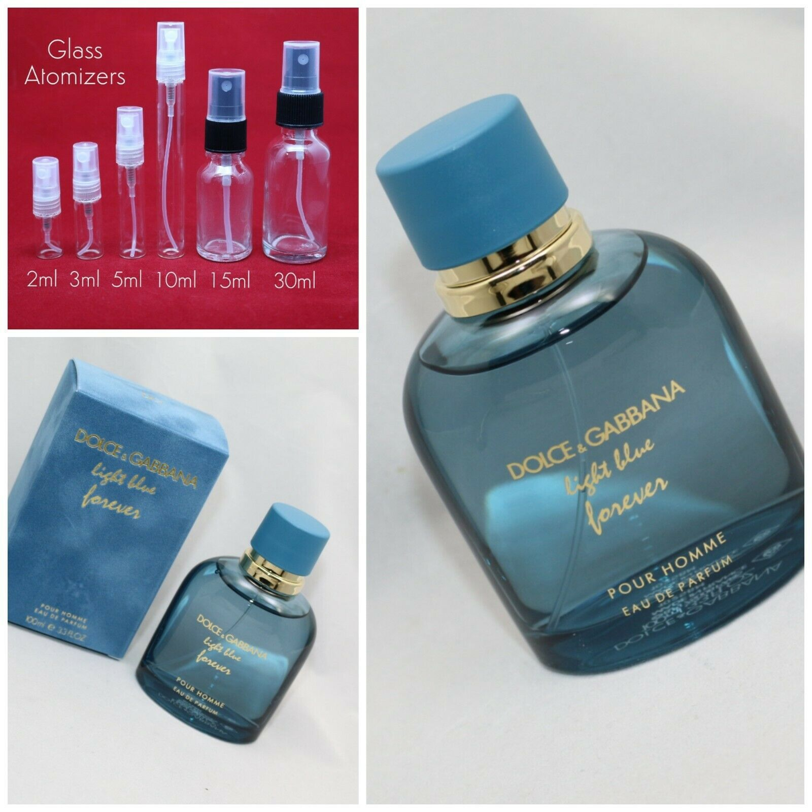 Dolce Gabbana Light Blue Eau Intense Pour Homme Men SAMPLE 2ml 3ml 5ml 10ml 30ml