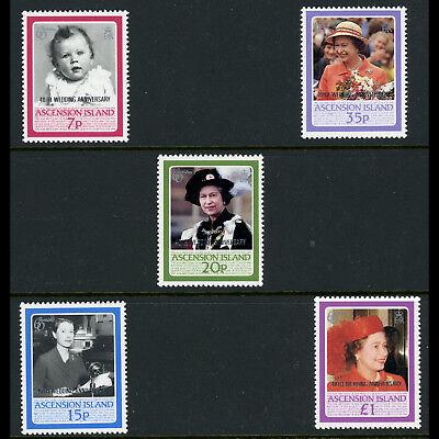 ASCENSION ISLAND. 1987 Royal Ruby Wedding. SG 447-451. Mint Never Hinged (AX002)