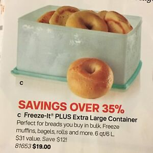 Brand New Tupperware Freeze-It Plus Extra Large Container