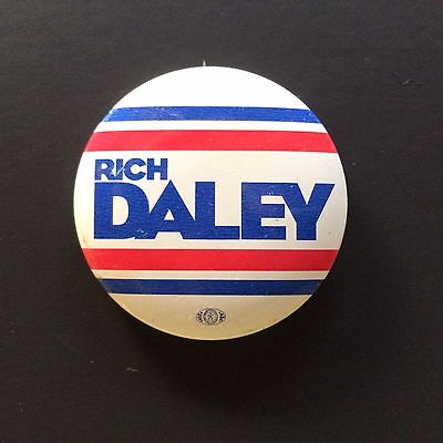 Rare Vintage PIN BUTTON RICHARD DALEY FOR MAYOR OF CHICAGO