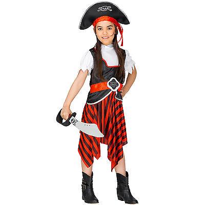 Mädchenkostüm Piratin +Piratenhut Seeräuberin Pirat Piratenbraut Fasching Kostüm