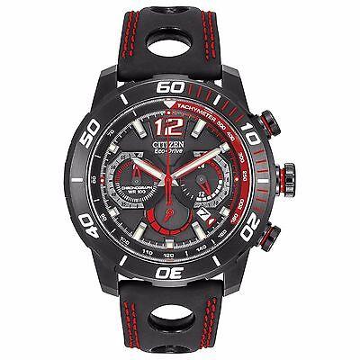 Citizen Eco-Drive Men's CA4085-08E Primo Stingray Chronograph Red Accents Watch