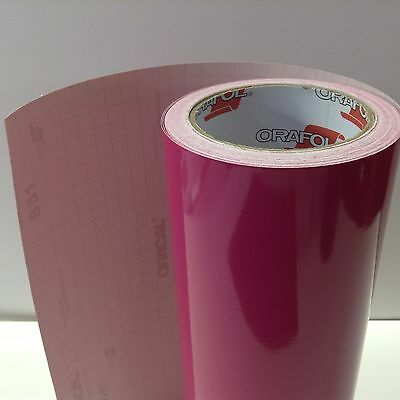 """Oracal 651, 1 Roll 12"""" x 300 """" Pink #041 Vinyl for Craft,Sign,Cutter"""
