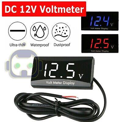 - 12V Digital LED Display Voltmeter Voltage Gauge Panel Meter For Car Motorcycle