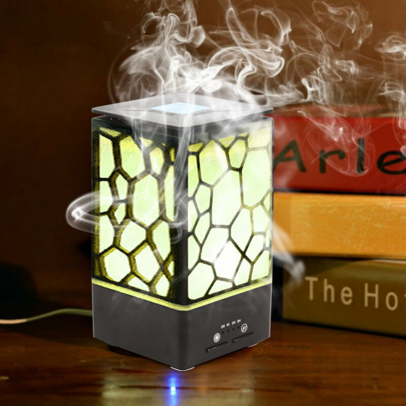 Mini Aroma Humidifier 65ml/H Oil Diffuser Mist Purifier w/ Night Light Function