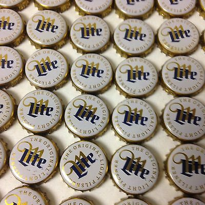 LOT OF 100 MILLER LITE BEER BOTTLE CAPS  NO DENTS