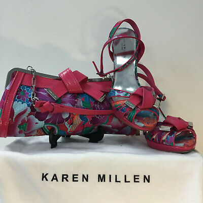 Stunning Karen Millen Shoes Size 7 And Matching Bag With Dust Bag