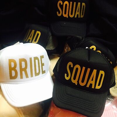 Squad and Bride Hats - Great for Bachelorette Parties - Set of 6