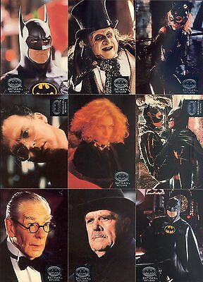 BATMAN RETURNS MOVIE 1992 TOPPS STADIUM CLUB COMPLETE BASE CARD SET OF 100 DC