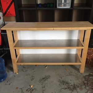 Pine kitchen side table