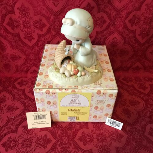 """PRECIOUS MOMENTS 1998 """"455695"""" """"PRAISE GOD FROM WHOM ALL BLESSINGS FLOW"""" NEW BOX"""