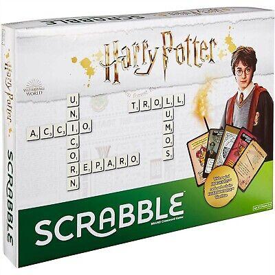 MATTEL SCRABBLE BOARD GAME HARRY POTTER CROSSWORD AGE 10+ PLAYER 2-4 NEW DPR77