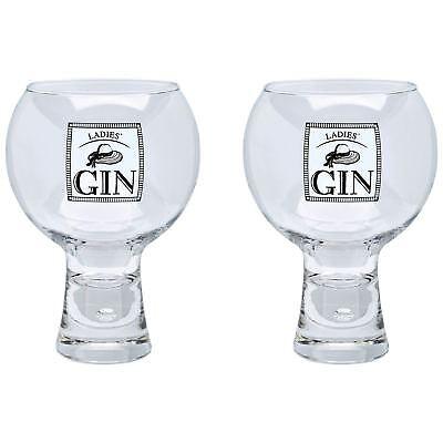 2x Alternato Ladies' Gin Drinking Glasses 540ml Tonic Martini Negroni Party