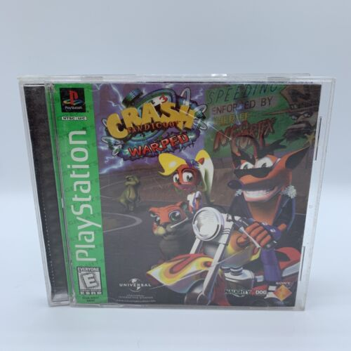 Crash Bandicoot Warped Sony PlayStation 1 PS1 Greatest Hits Complete Tested - $19.99