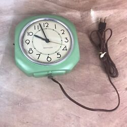 West Clox Kitchen Wall Hanging Clock / Vintage Antique Industrial La Salle ILL