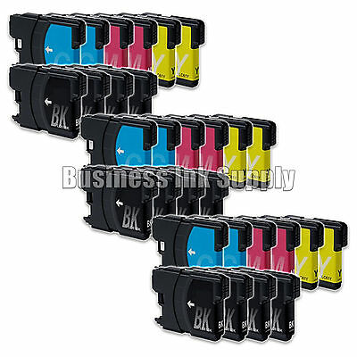 30 Pack Lc61 Ink Cartridges For Brother Mfc-490cw Mfc-495...
