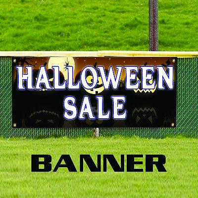 Full Moon Halloween Sale Pumpkin Retail Bats Decor Advertising Vinyl Banner Sign](Halloween Retail Sales)