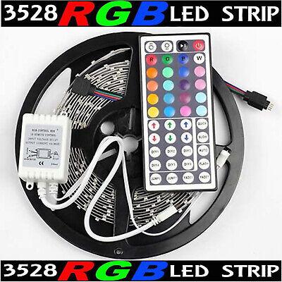 16Ft Multi-Color 3528 SMD RGB 300led 5M Flexible LED Strip Light+44key IR Remote