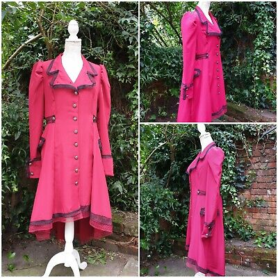 Quirky Steampunk Coat Dress uk 12 OOAK Whitby Gothic Victorian Saloon Girl