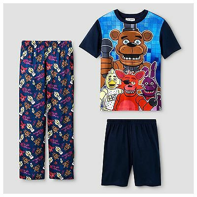 Five Nights At Freddys 3 Pc Pajamas Set Size 6   8   10 Nwt