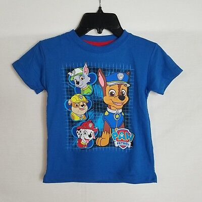 Blue Toddler T-shirt - NEW Toddler Boys Size 4T Paw Patrol Short Sleeve Blue Graphic T-Shirt