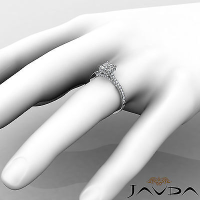 Circa Halo Bridge Accent Princess Diamond Engagement Pave Ring GIA F VS1 1.15Ct 2