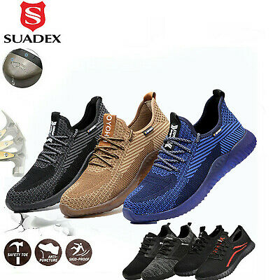 Mens Work Safety Shoes Steel Toe Bulletproof Boots Indestructible Sneakers Size